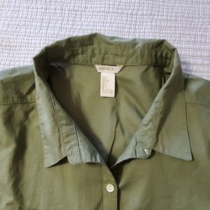 Forever 21 Tops - Forever 21 Army Green Top